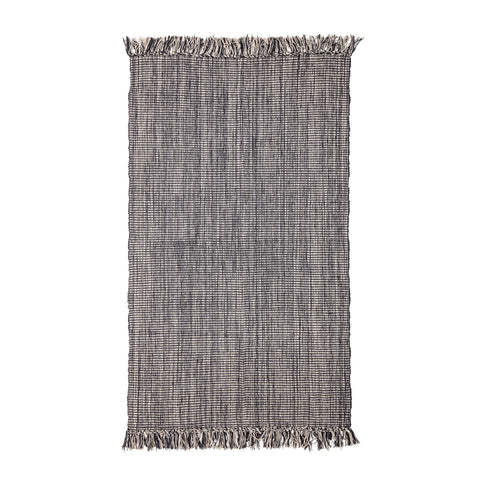 3' x 5' Woven Cotton Blend Rug with Fringe