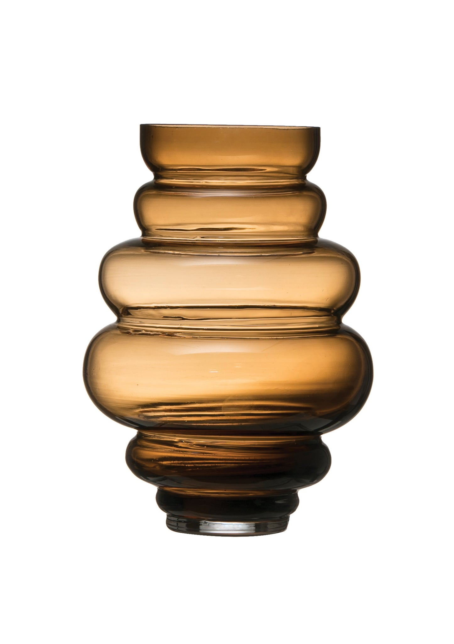 "9.25""H 5-Tier Transparent Glass Vase"