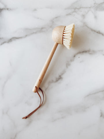 Beech Wood Brush with Leather Tie - Brandt's Home Decor
