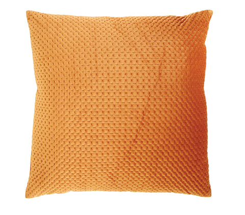 Square Orange Polyester Woven Pillow