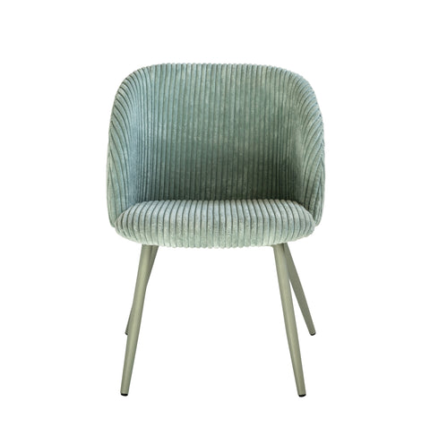 Mint Green Upholstered Child's Metal Chair