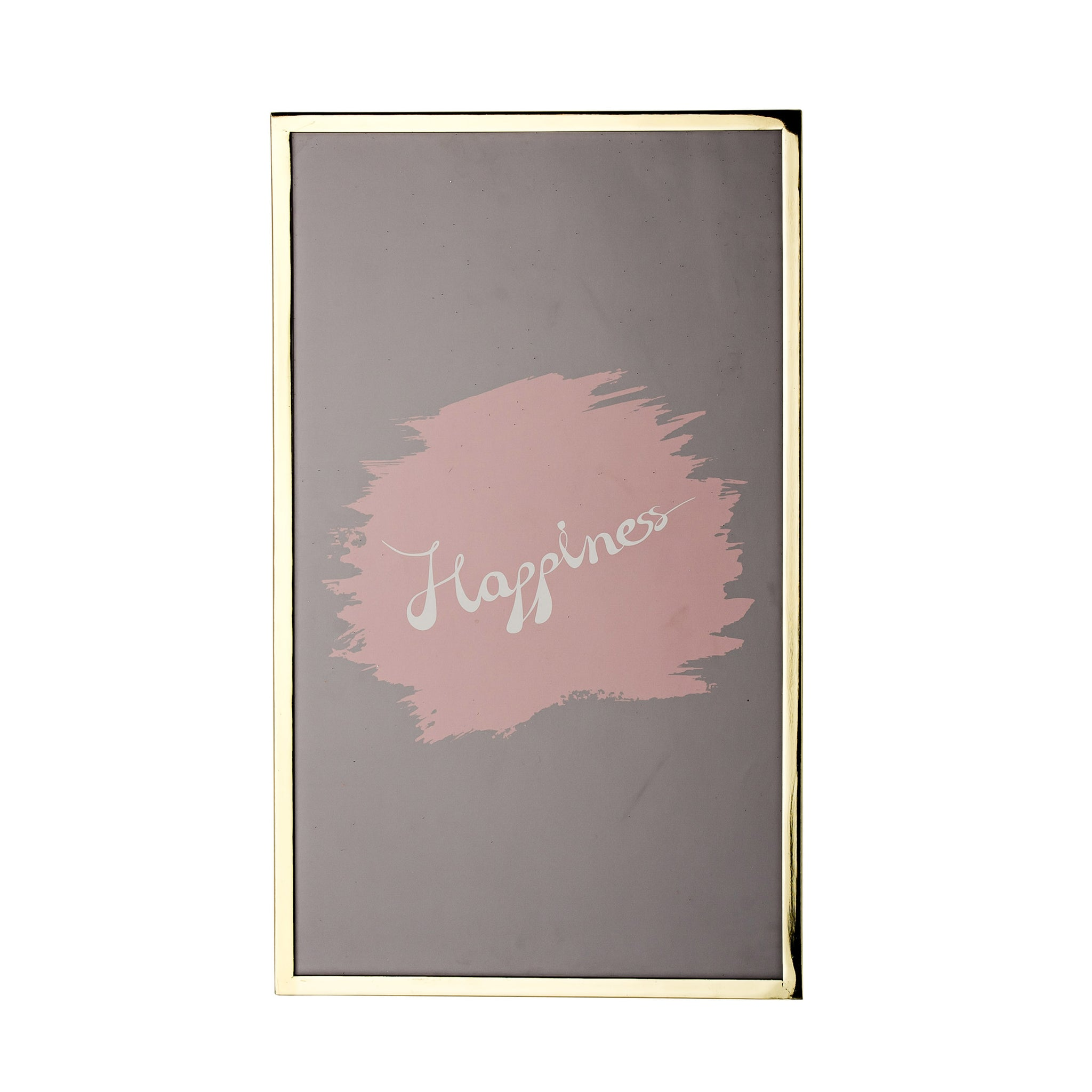 Metal Framed Happiness Wall Decor