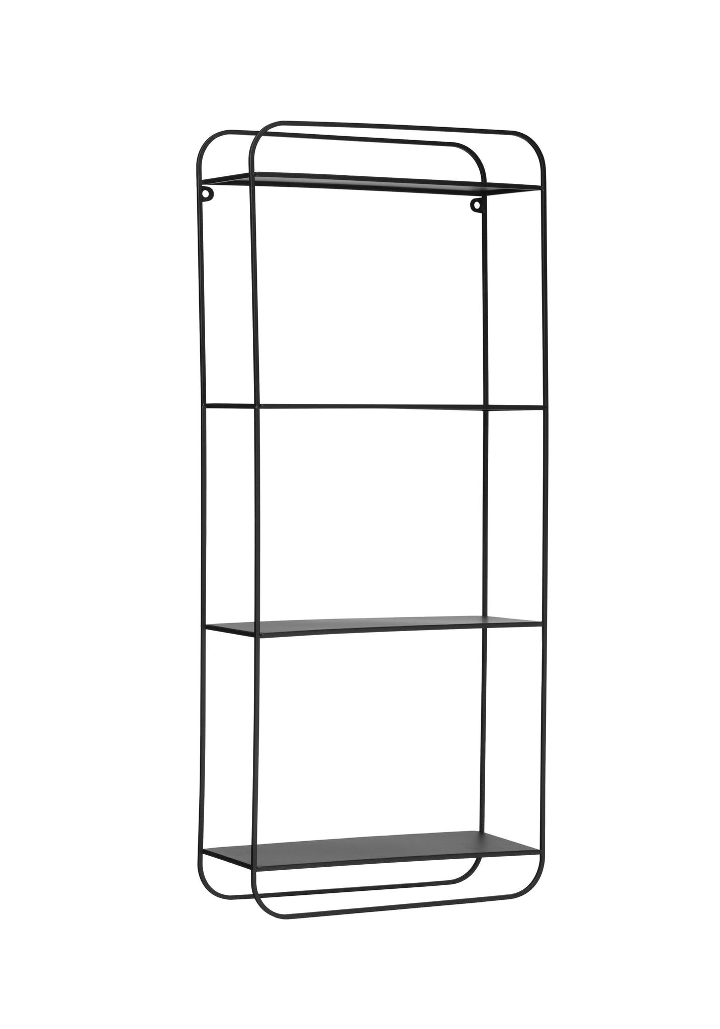 "27.5""H Metal 4-Tier Wall Shelf with Open Back & Hanging Rod"