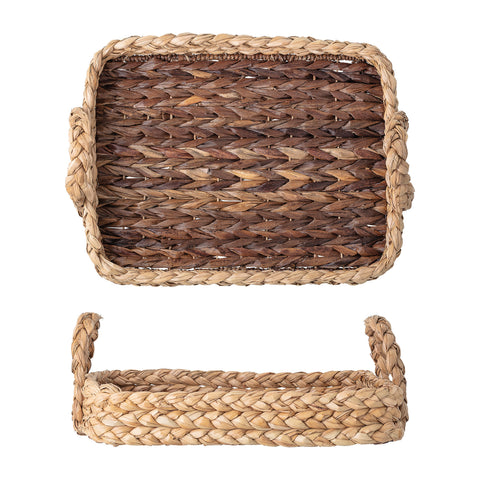 "Decorative 22""L Handwoven Seagrass Tray with Handles"