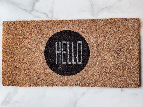 """Hello"" Door Mat - Brandt's Home Decor"