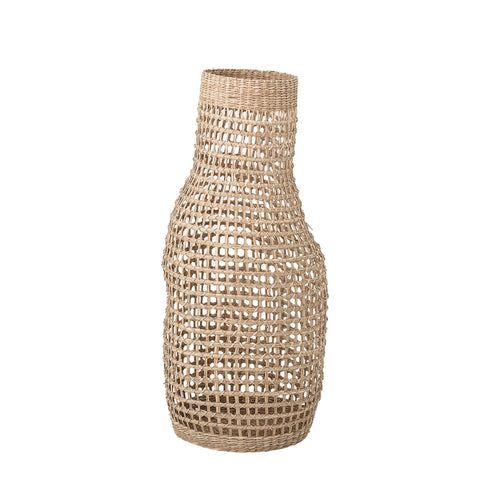 "Decorative 28.25"" Handwoven Natural Seagrass Vase"