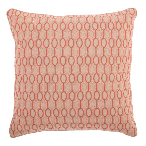 Pink & Salmon Square Cotton Pillow