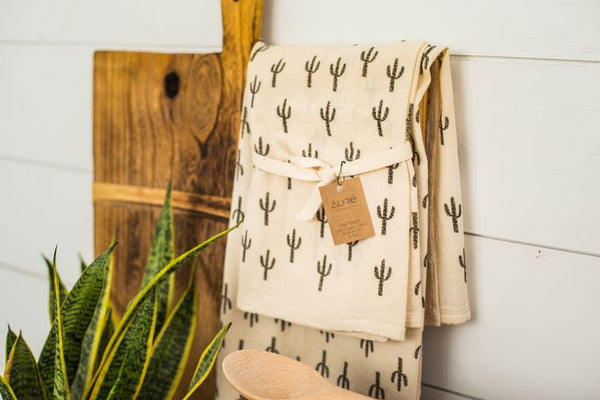 Organic Cotton Saguaro Tea Towel