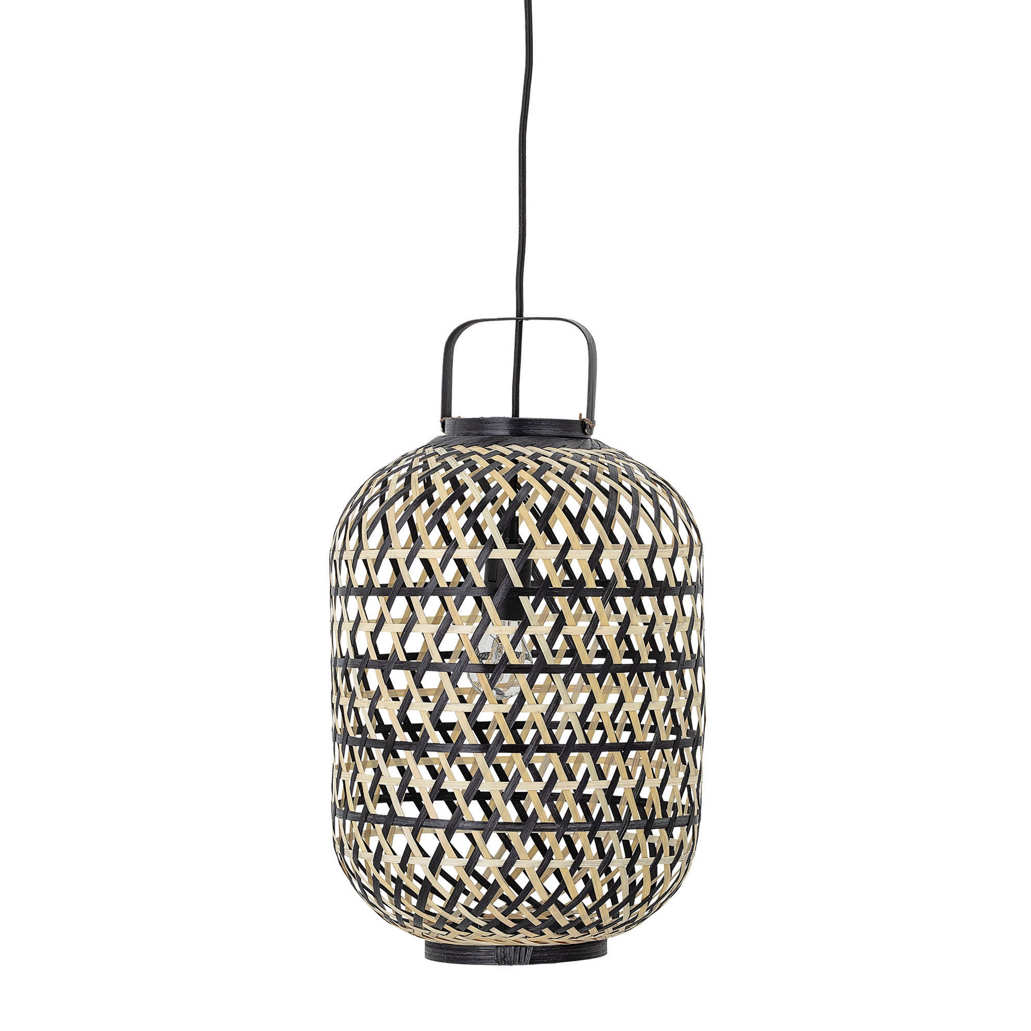 Lantern Shaped Handwoven Bamboo Pendant Light (Hardwire Only)