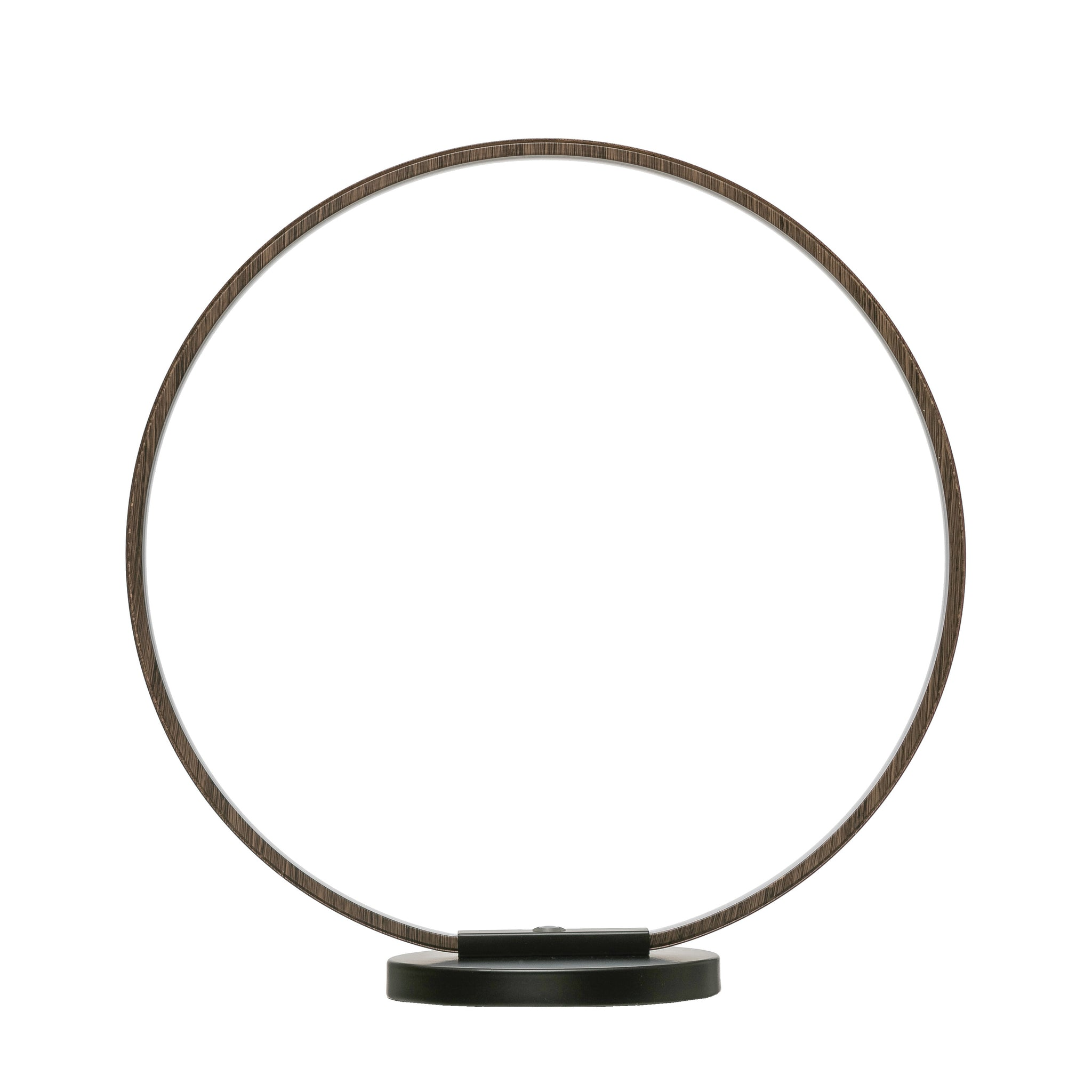 Open Circle Metal LED Touch Sensor Table Lamp with Multiple Light Settings