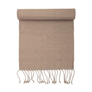 Brown 2' x 9' Natural Jute Rug with Fringe