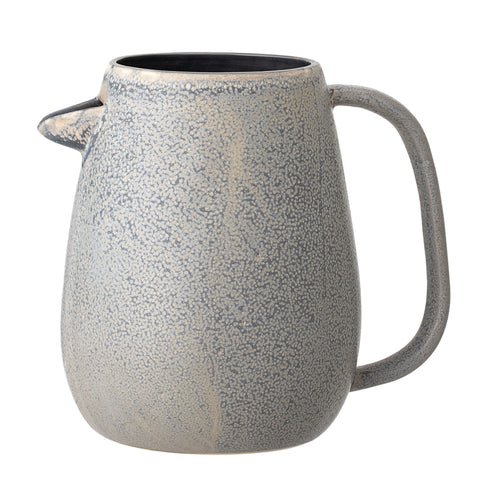 Glazed Grey Stoneware Pitcher