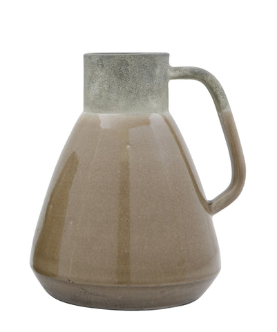 Brown Decorative Terracotta Pitcher Shaped Vase