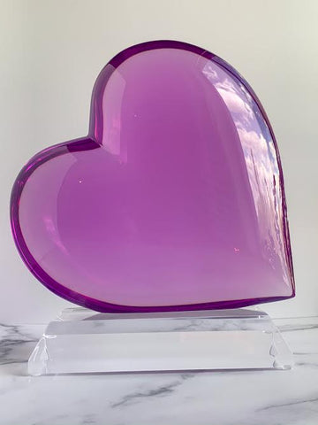 Purple Large Heart Sculpture - Brandt's Home Decor