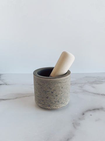 Stoneware Mortar & Pestle - Brandt's Home Decor