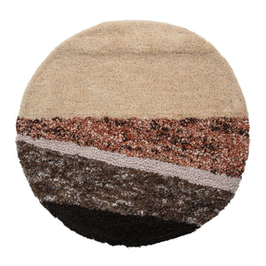 "28"" Round Hand-Tufted Wool & Cotton Blend Wall Décor"