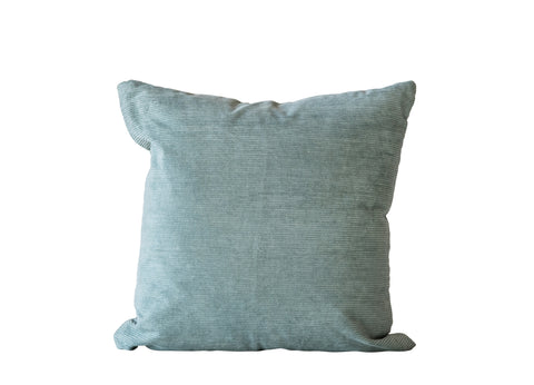 Mint Green Square Cotton Corduroy Pillow