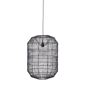Oval Paper Rope Pendant Light with 6' Cord (Hardwire Only)