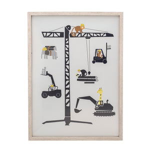 Animals, Crane & Construction Vehicles Wall Art
