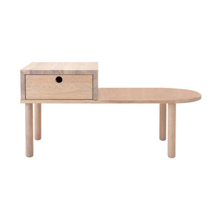 Oak Bench with Drawer