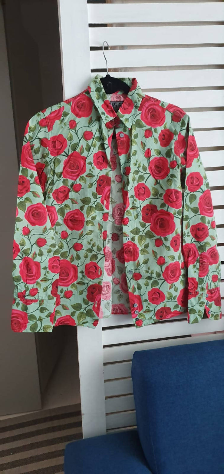 Floral Print Button Down - Wisi-Oi