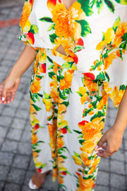 Asos floral wide leg jumpsuit - WisiOi