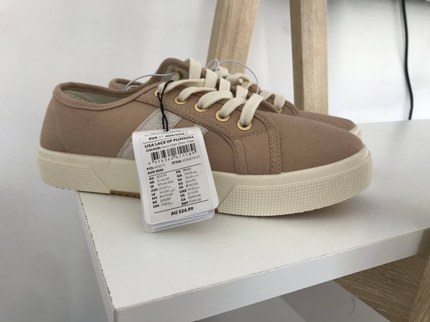 Cotton On Lace Up Plimsoll