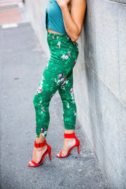 H&M collection floral skinny pants - WisiOi