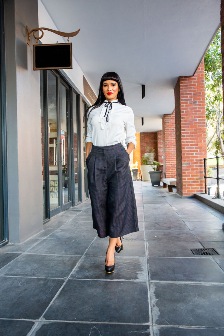 Topshop tailored culottes in check - WisiOi