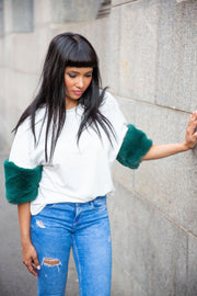 Asos oversized top with faux fur - WisiOi