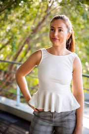 X&O white peplum top - WisiOi