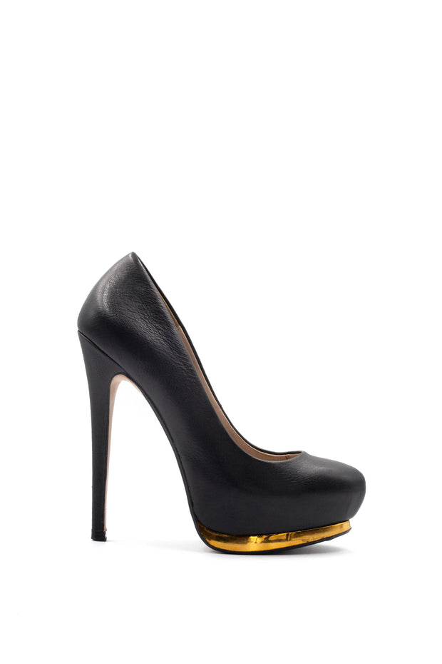 Zara gold rim stiletto heel