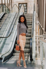 Mr. Price Peach Midi Skirt
