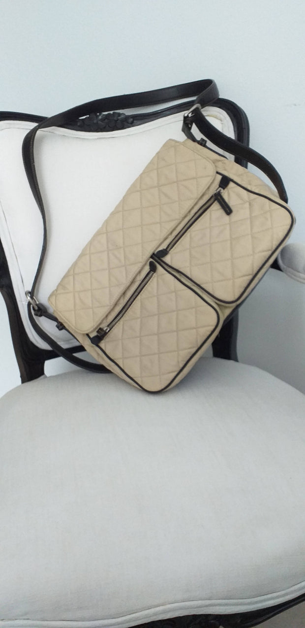 Cream and Black Nine West bag