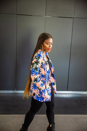 Missguided Tropical Print Blazer