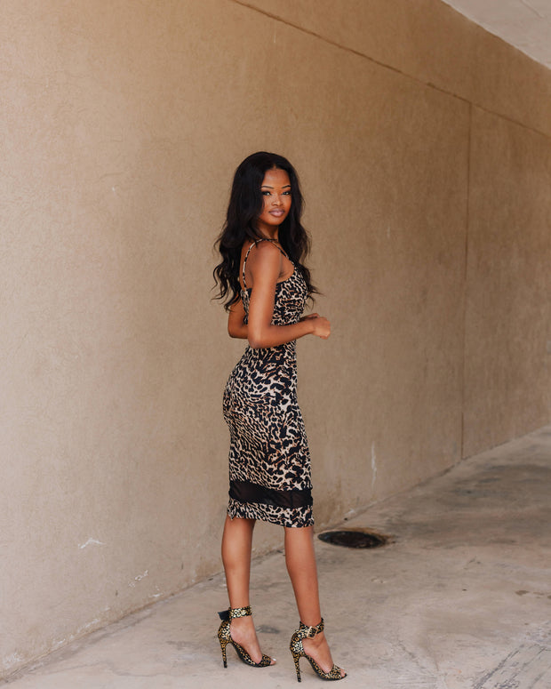 Legit Leopard Print Dress - Wisi-Oi