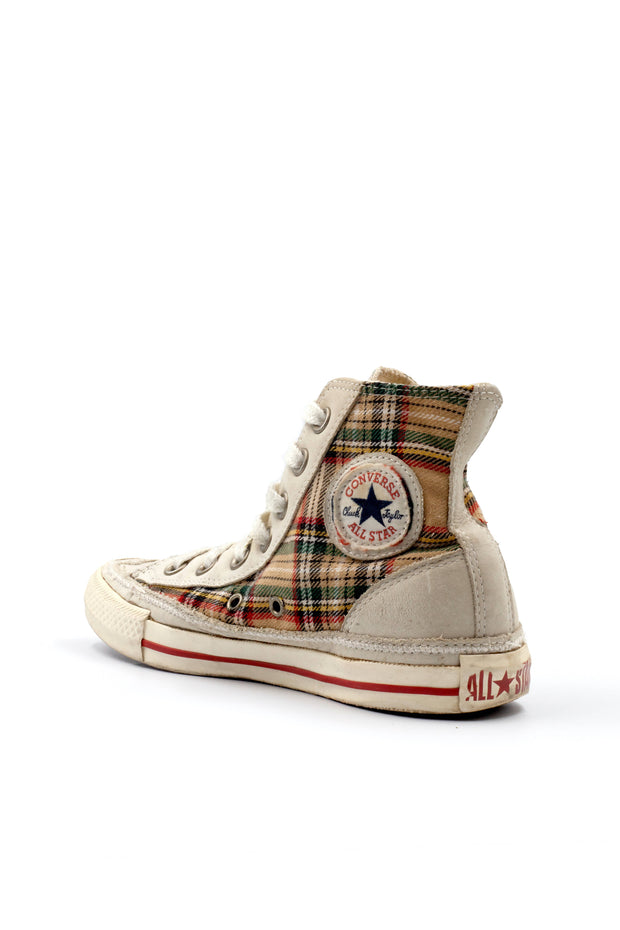 All Star Converse plaid leather sneaker