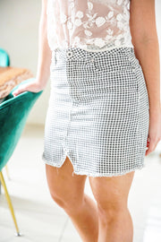 Cotton On Checkered Mini Skirt - WisiOi