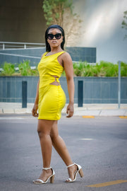 Foschini yellow mini dress