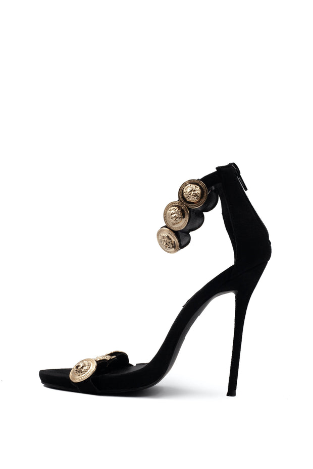 Peace & Love Gold Coin Heel