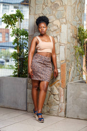Woolies Animal Print Skirt