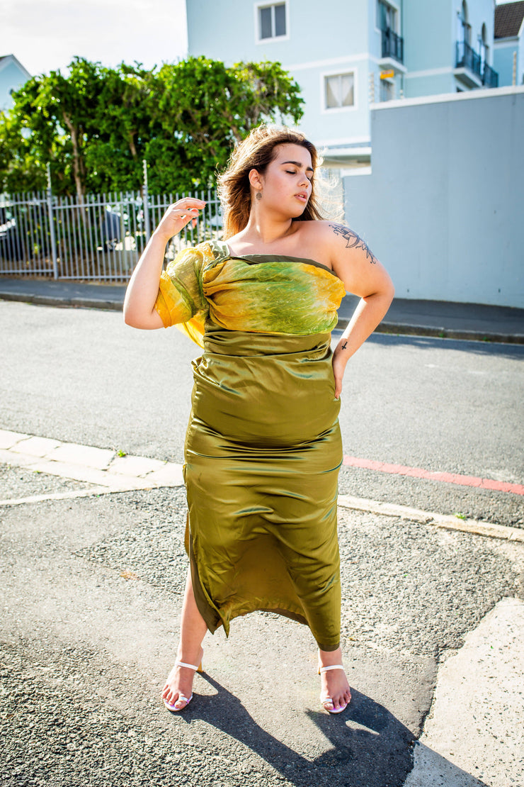 Custom designed Olive green gown