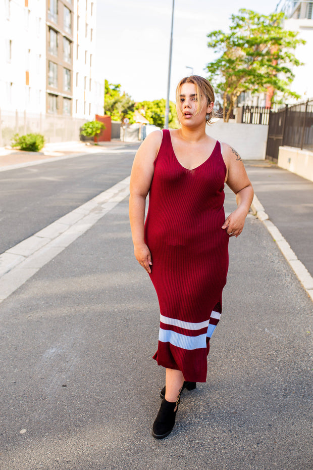 H&M maroon maxi dress