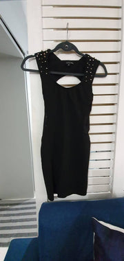 Bodycon with embellished shoulders
