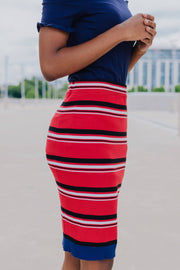H&M Striped Bodycon Skirt