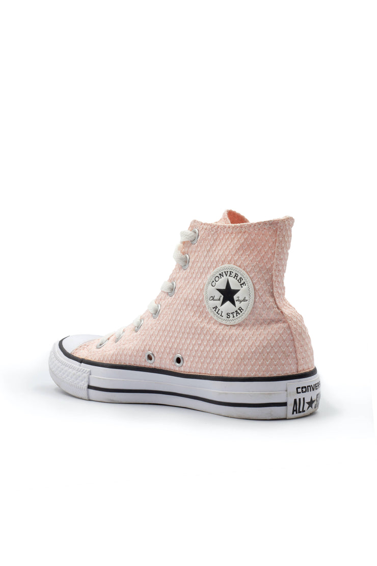 All star converse pink textured sneaker