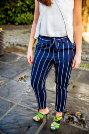 Zara Striped Drawstring Pants - WisiOi