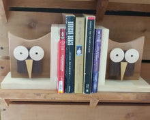 Load image into Gallery viewer, Owl Bookends / Wood Bookends / Owls / Canada