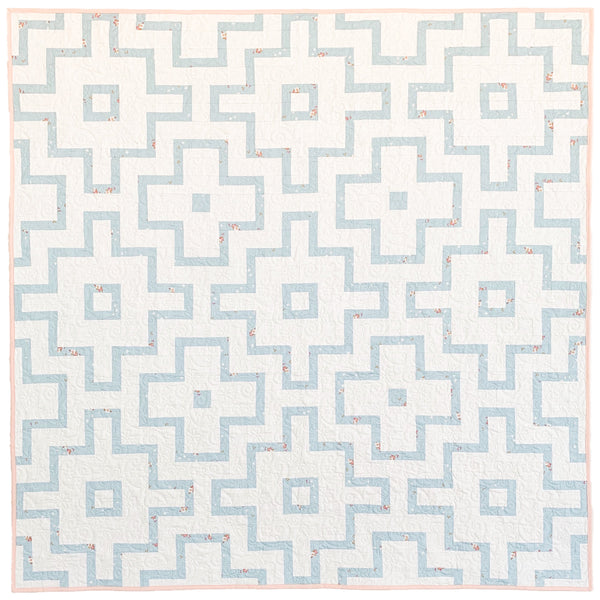 Blue and White Empire Quilt - Throw Size