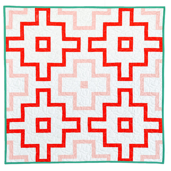 Red and Pink Empire Quilt - Crib Size
